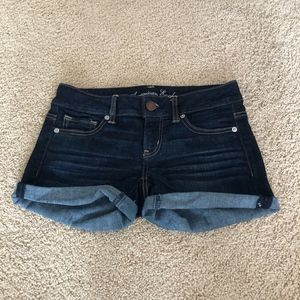 American Eagle Jean Shorts - dark wash